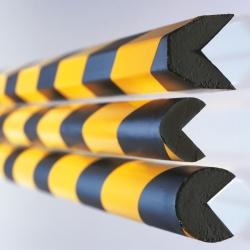 Trapezform, Profilschutz 40//40//8, schwarz//gelb, L/änge 1 m Moravia 422.13.264 MORION-Prallschutz
